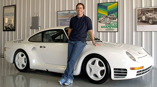 Jerry Seinfield with Seinfeld-Porche