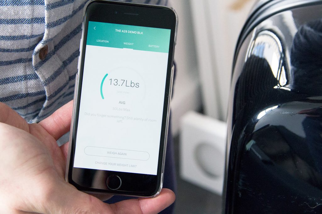 Raden smart luggage app