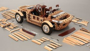 toyota wooden electirc car