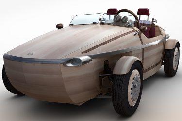 toyota setsuna wooden electric car