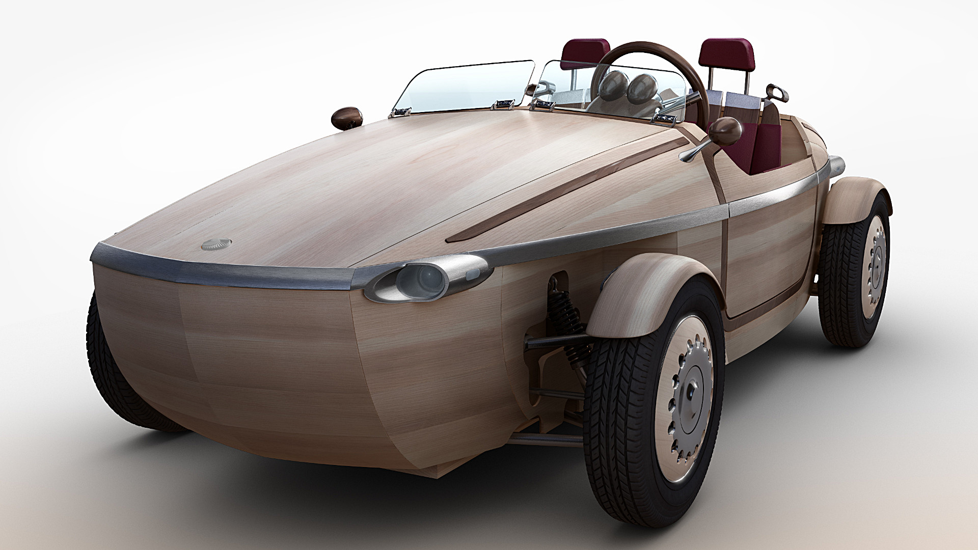 toyota setsuna wooden electric car